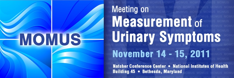 Banner for the 2011 Meeting on Measurement of Urinary Symptoms