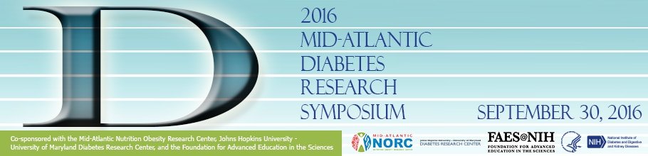Banner for the 2016 Mid-Atlantic Diabetes Research Symposium
