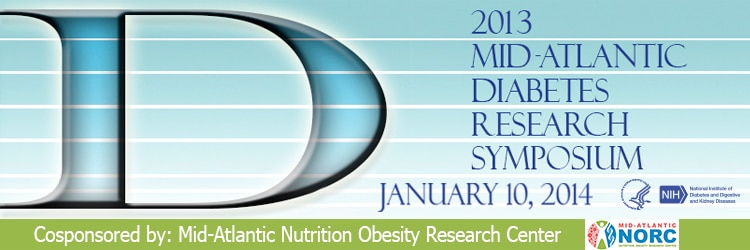 Banner for the 2013 Mid-Atlantic Diabetes Research Symposium