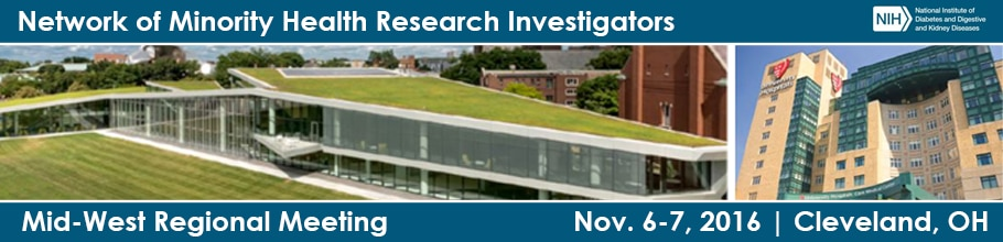 Banner for the 2016 Network of Minority Health Research Investigators Midwest Regional Meeting