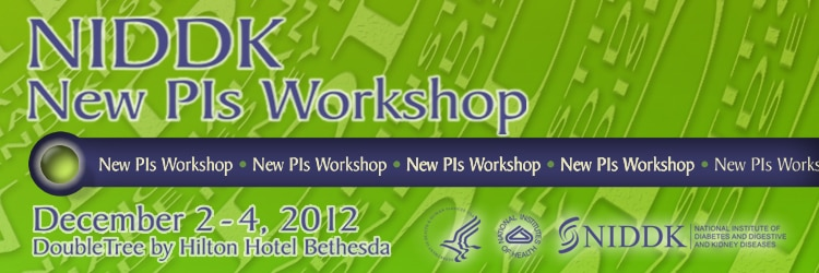 Banner for the 2012 NIDDK New PI Workshop