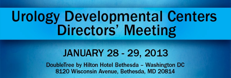 Banner for the 2013 Urology Developmental Centers Directors' Meeting