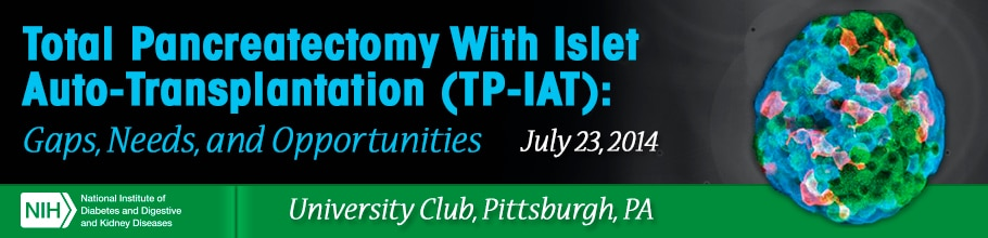 Banner for the 2014 Workshop on Total Pancreatectomy with Islet Auto-Transplantation