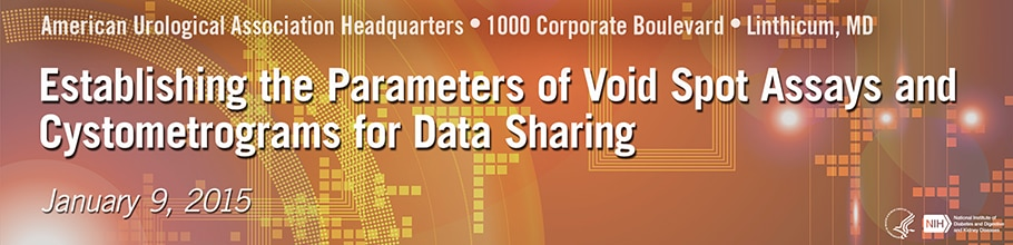 Banner for the 2015 Workshop on Establishing the Parameters of Void Spot Assays and Cystometrograms for Data Sharing