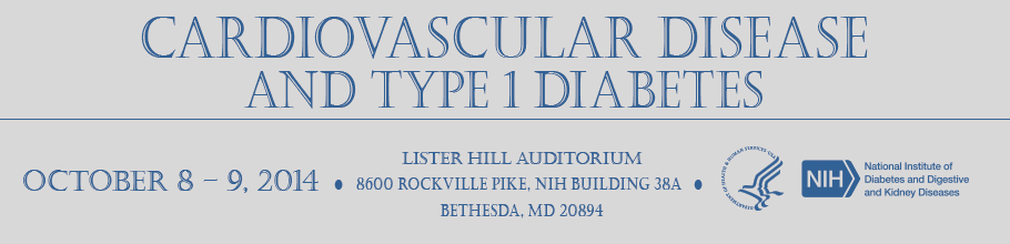 Banner for the 2014 Cardiovascular Disease and Type 1 Diabetes Meeting.