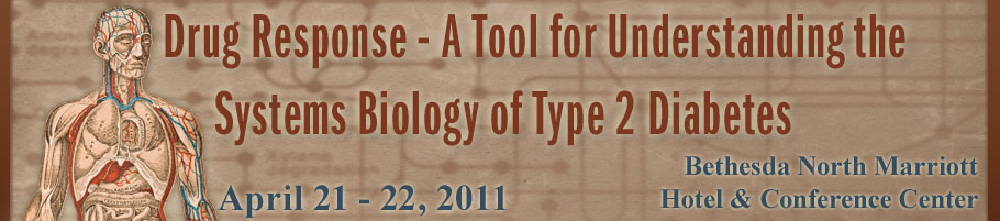 Banner for the 2011 Drug Response - A Tool for Understanding the Systems Biology of Type 2 Diabetes Meeting.