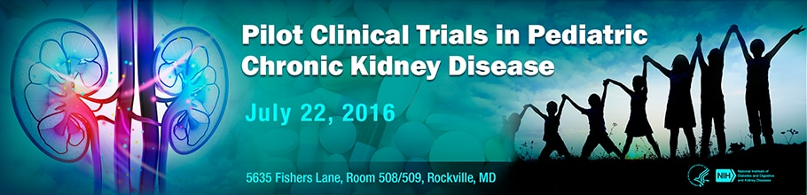 Banner for the 2016 Workshop on Pilot Clinical Trials in Pediatric Chronic Kidney Disease