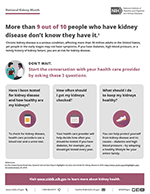Thumbnail image of the National Kidney Month flyer