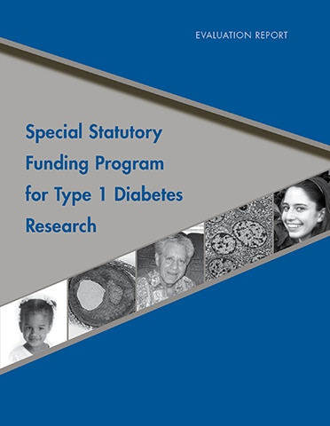 Special Statutory Funding Program for Type 1 Diabetes Research: Evaluation Report 2011 cover