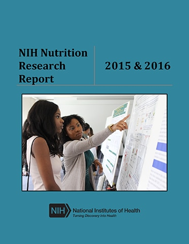 Cover of NIH Nutrition Report 2015 and 2016
