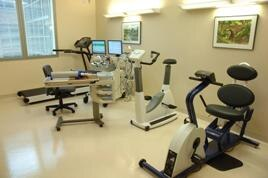 Photo of fitness room inside a lab