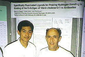 Photo of Alex and Paul presenting their poster at 10th Eurocarb