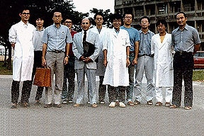 Photo of Paul visiting Tomoya Ogawa's group at RIKEN in 1985