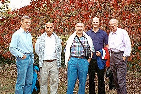 Photo of Paul with colleagues in the field at the 1994 Gordon Conference on Carbohydrates