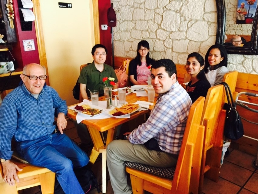 Photo of lunch with Aileen after the 2015 Gordon Conference