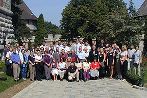 Photo of attandees at the 10th Bratislava Symposium on Saccharies, Summer 2002