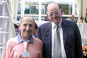 Photo of Paul and Roy L. Whistler meet at the 20th International Carbohydrate Symposium
