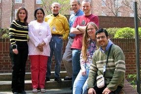Photograph of lab members from 2004