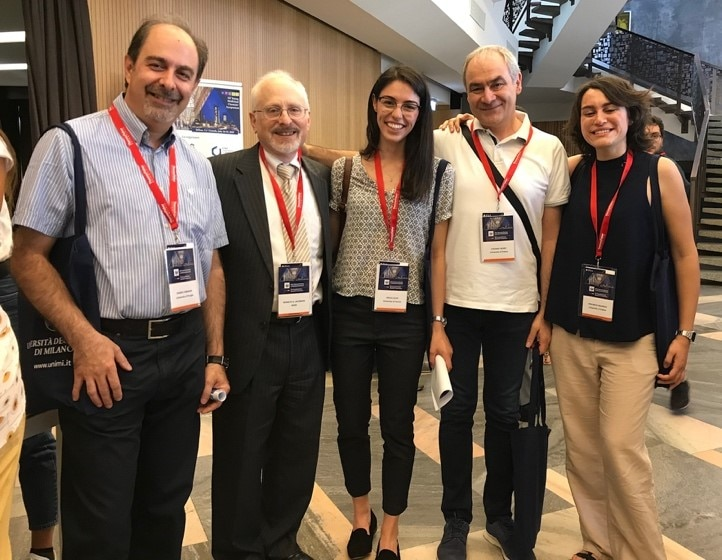 Dr. Jacobson with current and former members of the Section, at a medicinal chemistry conference