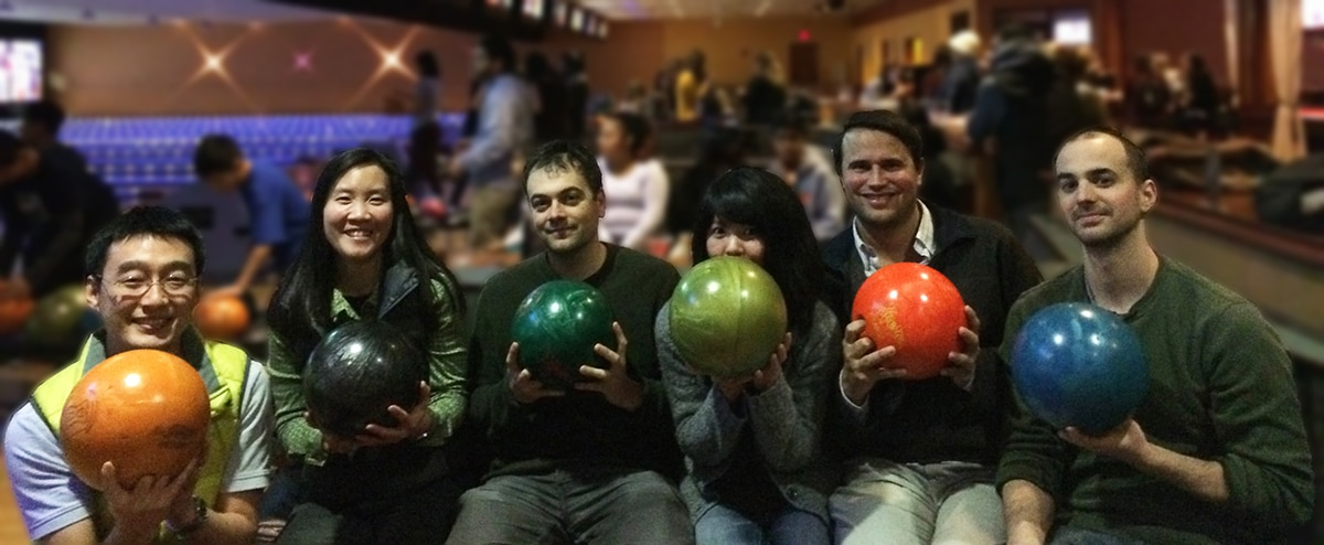 The LCDB team at the bowling alley