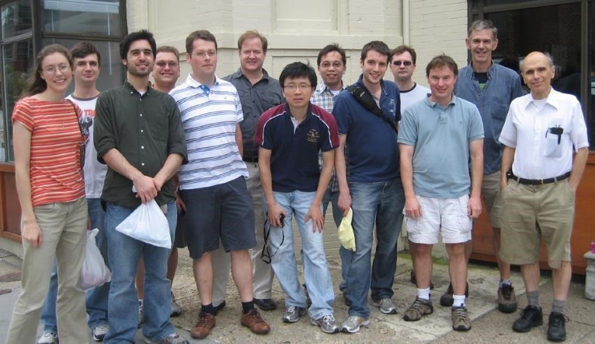 A group photo of the Bax group outside