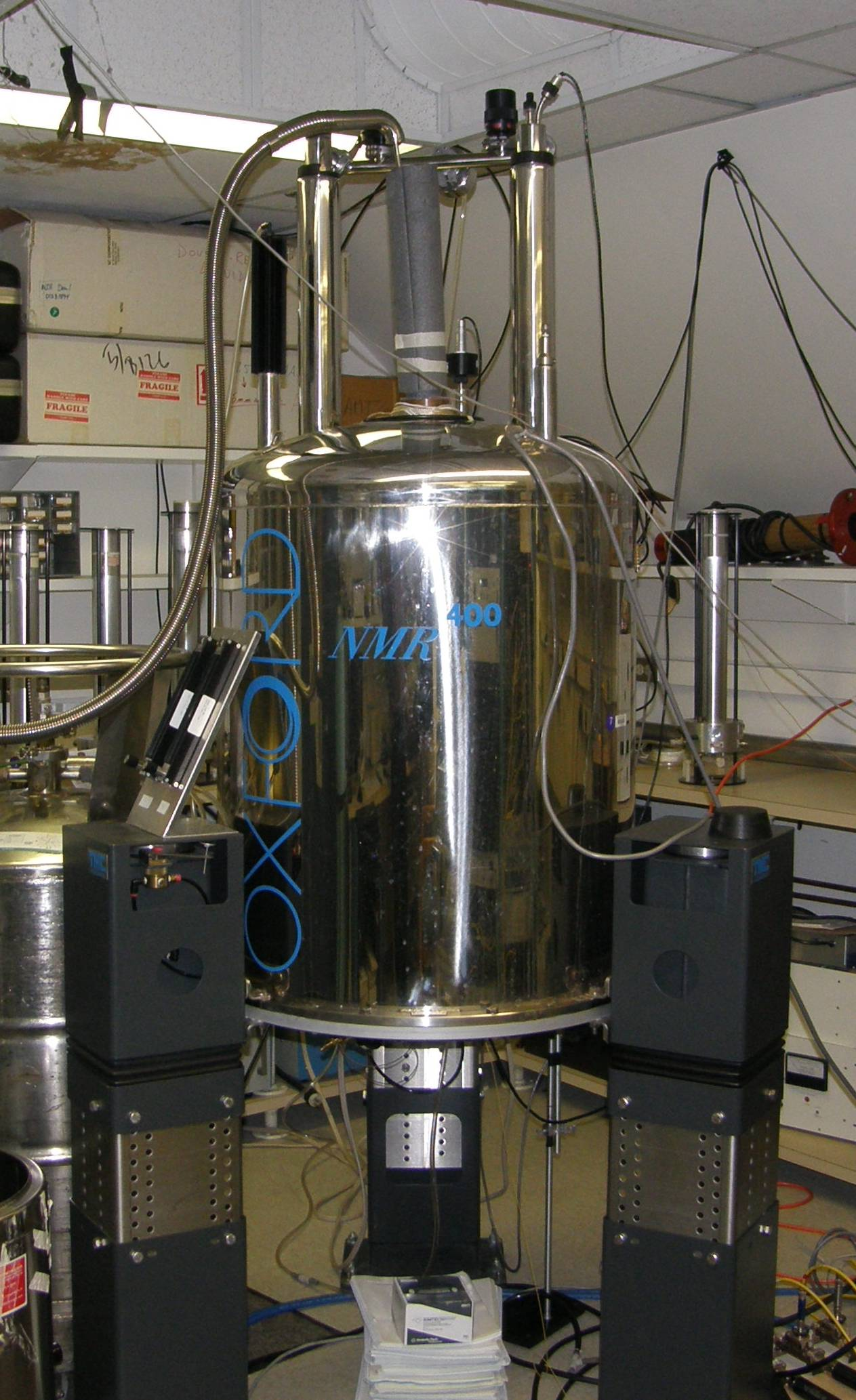 Photo of a nuclear magnetic resonance magnet