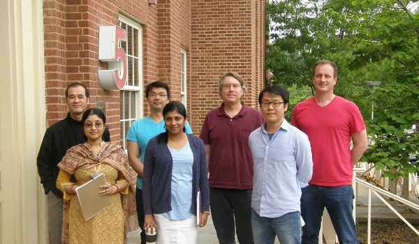 A group photo showing the Solid State Nuclear Resonance section lab members