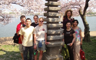 Members of the Genetics and Metabolism Section visit the DC Cherry Blossom Festival.