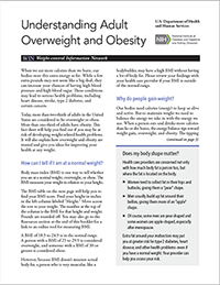Understanding Adult Overweight and Obesity cover