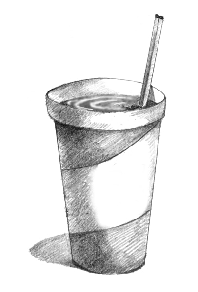 Drawing of a cup of soda.