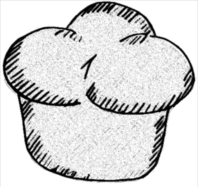 Drawing of a muffin.